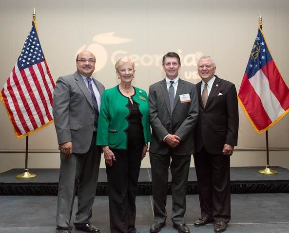 ServiceCentral CEO Steve Teel & EVP Darrell Morales are pictured with Georgia Governor Nathan Deal and First Lady Sandra Deal.