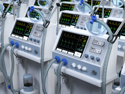 Repaired EKG machines ready for use